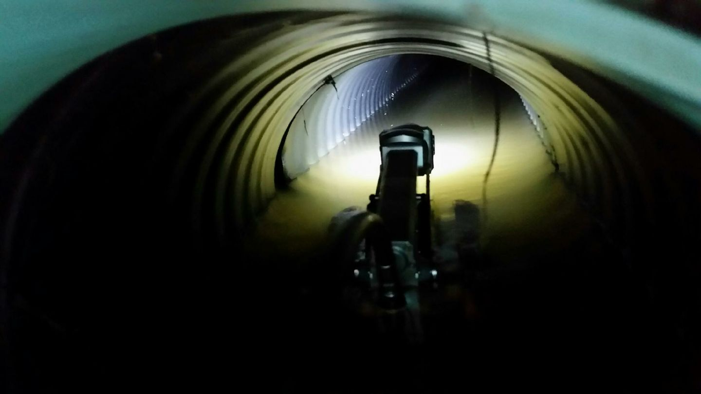 AgWater's ROVVER X performs drain tile inspections.