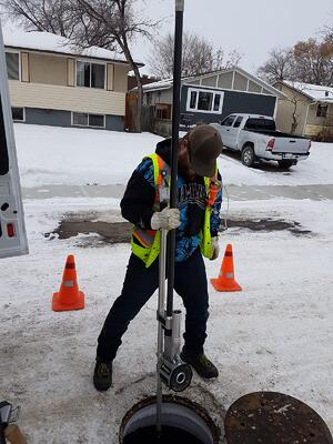 City of Red Deer Employee uses Quickview airHD in snow