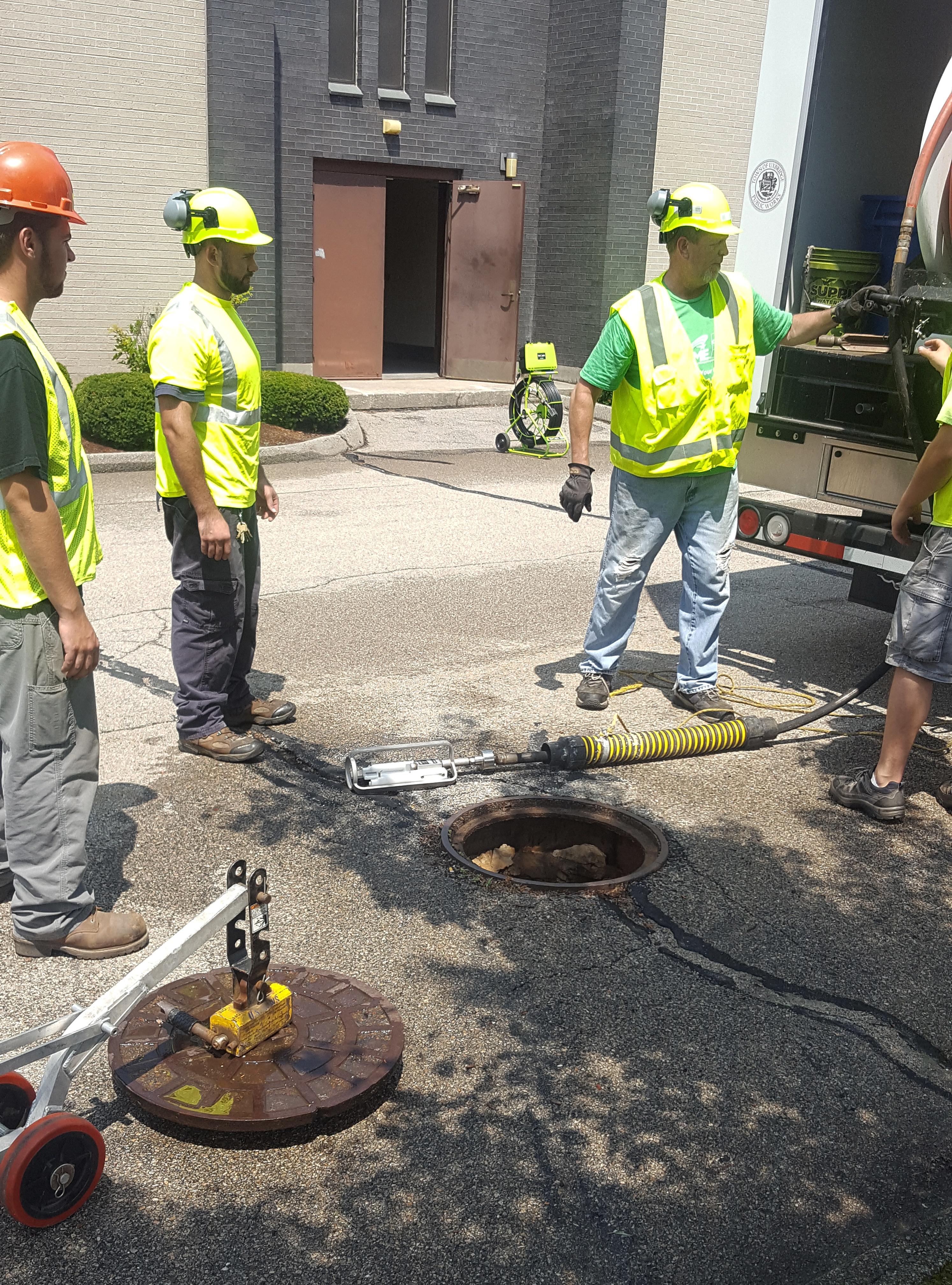 Uxbridge, MA using Jetscan video nozzle.