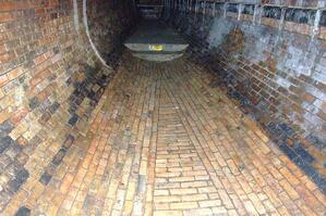 Interior of Brick Sewer