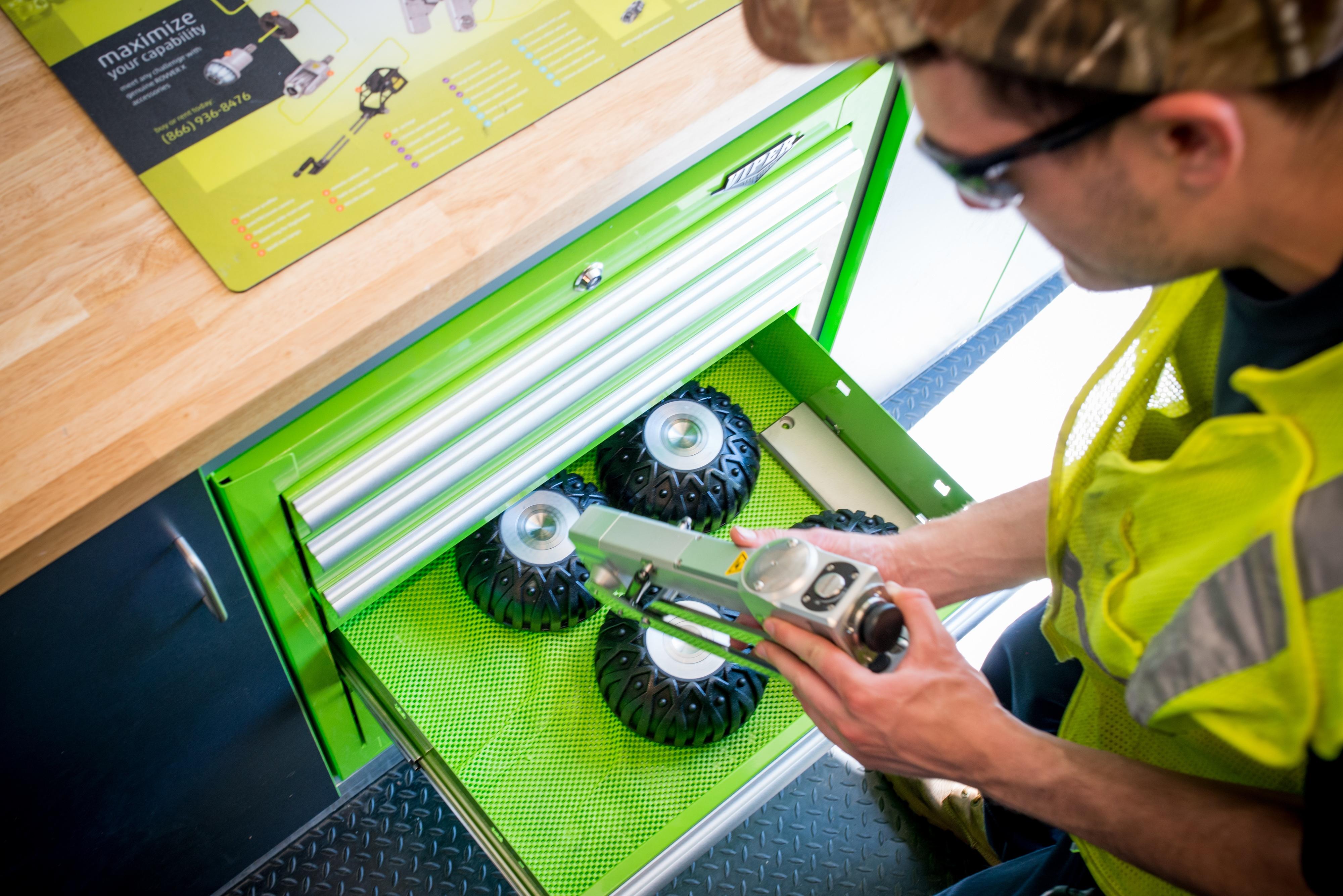 Operator Handling a ROVVER X Camera Lift