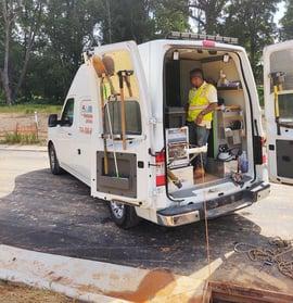 Carolina's Underground Sewer Inspection Van