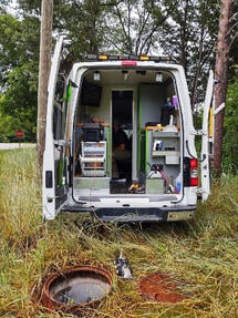 Carolina's Underground Inspection with the ROVVER X sewer inspection crawler