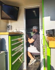 Carolina's Underground Operator in Inspection Van