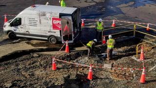 GPRS Sewer Work Site