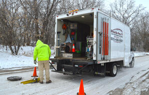 Green Bay Pipe Snow Sewer Inspection