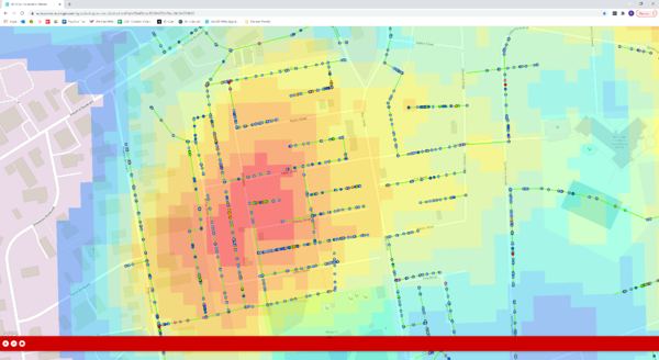 Wastewater System Inspection Data Heat Map