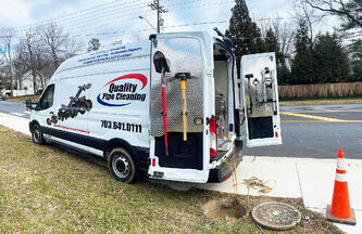 Quality Pipe Cleaning Inspection Van