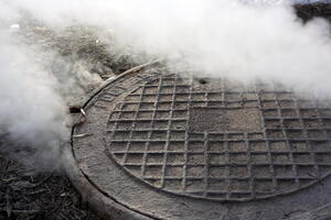 Sewer gas smell