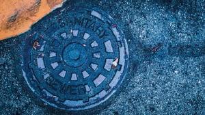 Black Closed Manhole