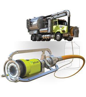 Jetscan on Sewer Jetting Cleaner Truck