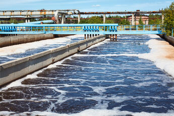 Wastewater in Aeration Process