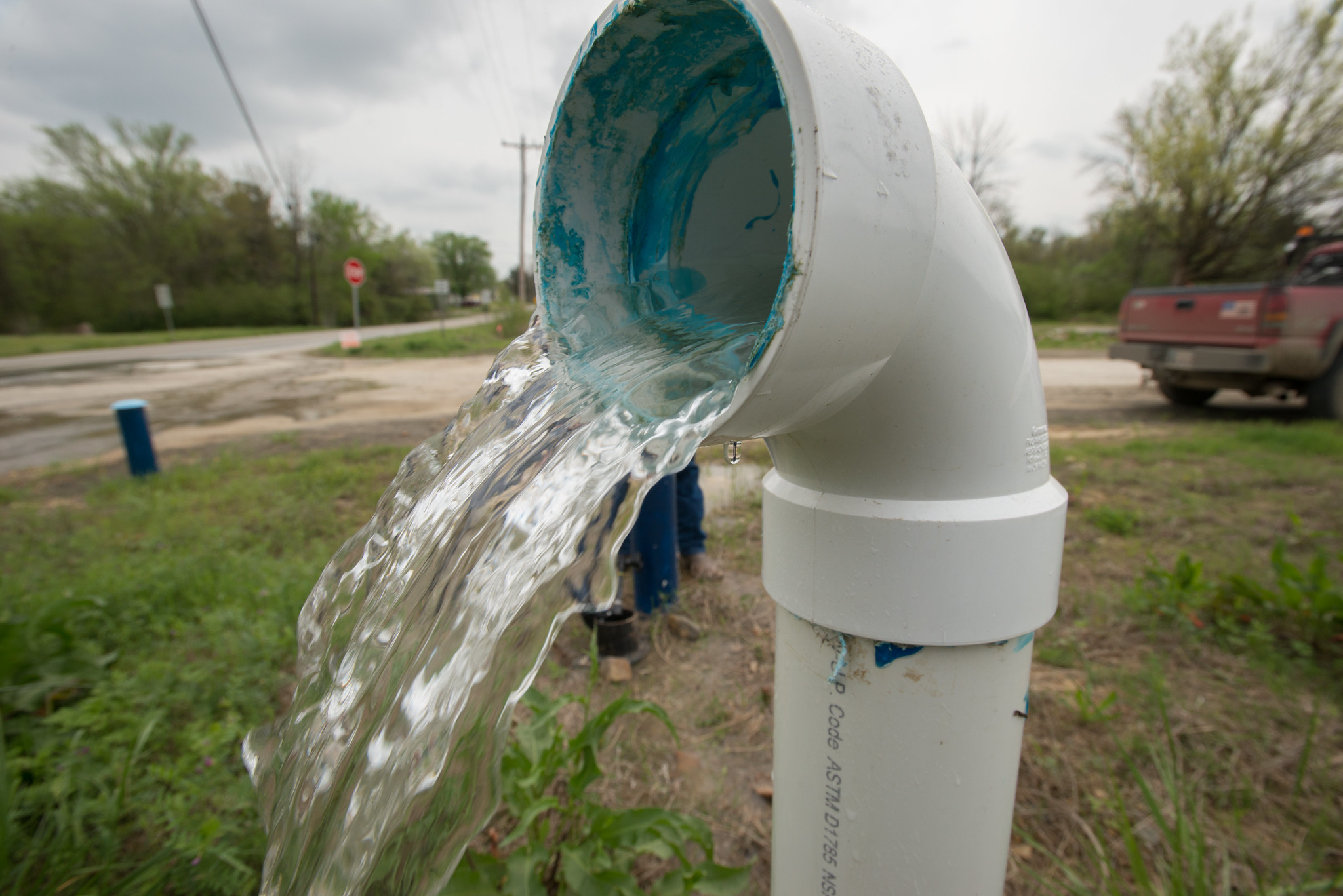 Drinking Water System Flushing at McCurtain Co. Rural Water District