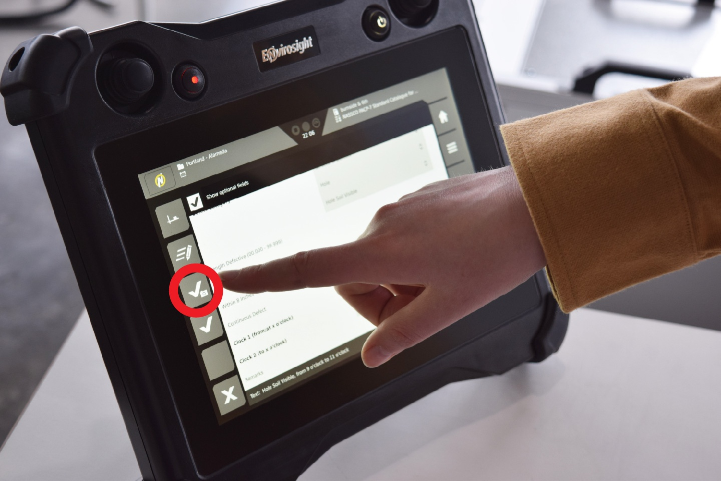 How to Catalog Inspection Observations on the VC500