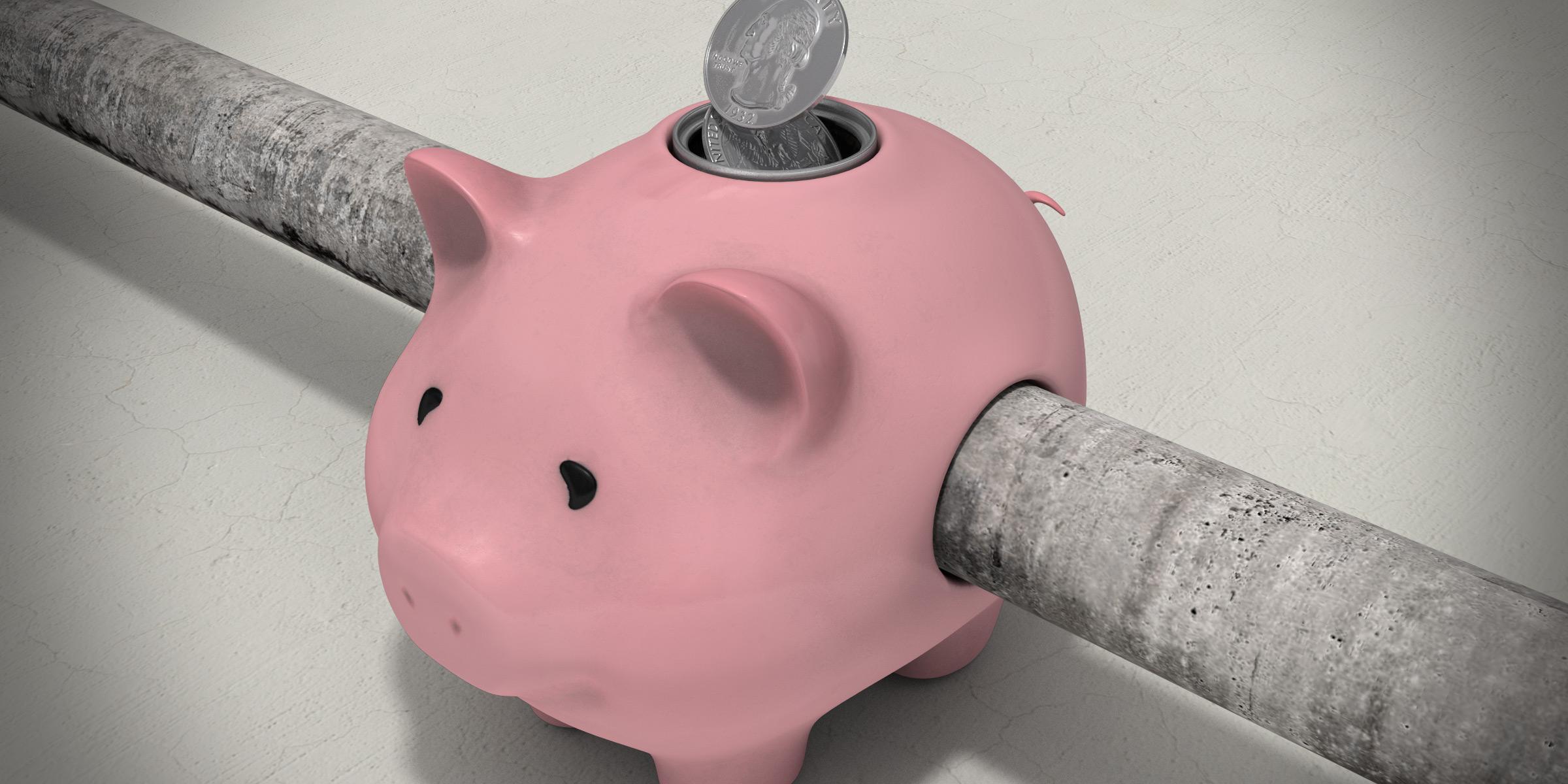 Budget Shortfalls Piggybank